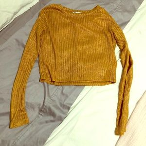 Good shimmery cropped top